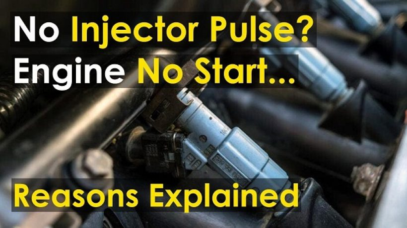 What causes no injector pulse in car?